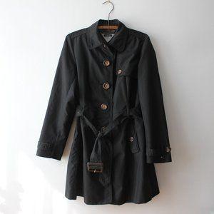 Tommy Hilfiger Black Trench Coat Large